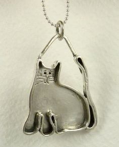 Bella The Cat Brings Blessings - Up Cycled Sterling Silver - Women - Strength…