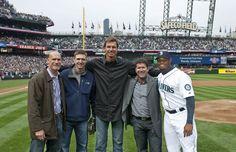 Jay Buhner, Dan Wilson, Randy Johnson, Edgar Martinez, and Ken Griffey Jr. at Seattle's Safeco Field.
