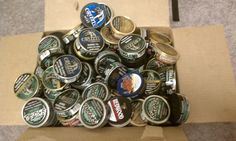 25 EMPTY SMOKELESS TOBACCO TINS DIP TOWER COPENHAGEN SKOAL GRIZZLY MUDJUG CRAFTS in Collectibles | eBay