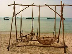 Papasan Chair Shells As Swings On A Beach. If You Live In Hawaii On The  Beach, You Have To Have This Itu0027s So Perfect !
