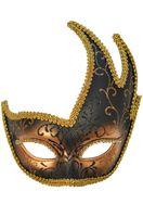 Dark Torch Venetian Mask (Black/Bronze)