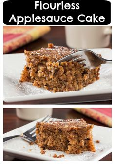 We ditched the flour to bring you this Flourless Applesauce Cake recipe that's a healthier choice for anyone following a diabetic diet!