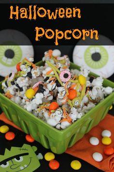 Halloween Popcorn :: Fun Halloween Recipes