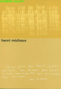 Henri Michaux - Stedelijk Museum Amsterdam