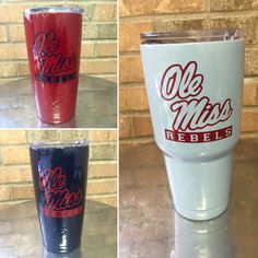 Personalized Ole Miss Custom Ozark Trail Tumbler 20-30oz hand painted: Red…