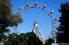 Vienna Prater, Amusement Park, Ferris Wheel, one of Vienna's most famous symbols Vienna Prater, Navy Pier Chicago, Ferris Wheels, How To Level Ground, Amusement Park, My Ride, Light Colors, Worlds Largest, Symbols