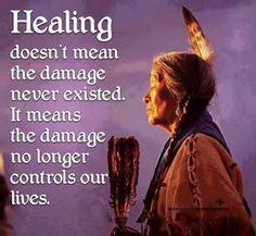 CURAR não significa que o dano nunca existiu. Apenas significa que o dano já NÃO DOMINA as nossas vidas!