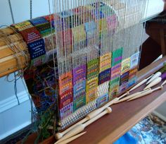 Tapestry diary - interesting idea. (Actually, I keep a weaver's thesis book, my teacher has as well, for 50 years. I haven't included my tapestry work though.)