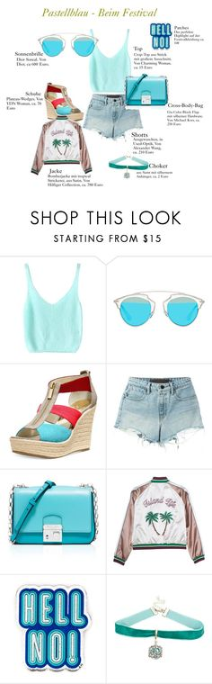 """Schnell Pastell! Pastellblau"" by thegoldenbazaar on Polyvore featuring Mode, Christian Dior, T By Alexander Wang, Michael Kors und Anya Hindmarch"