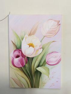 Tulip Painting, Acrylic Painting Flowers, Silk Painting, Watercolor Flowers, Watercolor Art, Arte Pallet, Acrilic Paintings, Plant Art, Flower Photos