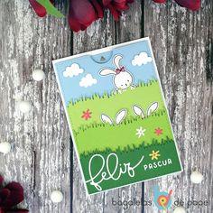 Gif animado de tarjeta interactiva de Pascua creada por Laura Dovalo.