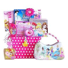 Disney Princess Gift Baskets Classic And Perfect Easter Gift Baskets For Kids Specially Easter Gift For Girls 38 Years Old -- Click image to review more details.Note:It is affiliate link to Amazon.