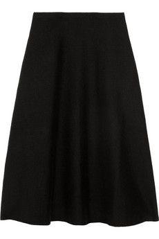 Cashmere-blend A-line skirt, Ralph Lauren Black Label.