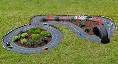 How to build an outdoor race car track for kids Hot Wheels. Why dont we have this on our playgrounds? How to build an outdoor race car track for kids… Race Car Track, Race Cars, Hotwheels Track, Race Tracks, Dirt Track, Outdoor Projects, Garden Projects, Backyard Projects, Diy Projects