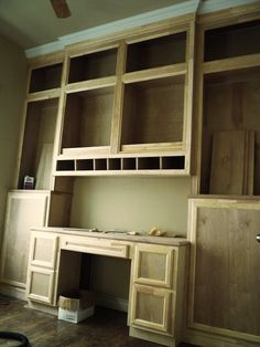 Custom Made Built-in Desk & Bookcases . This is similar to what Brady is doing in our study/scrap area.