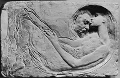 Leonardo Bistolfi (1859-1933) was an Italian sculptor, an important exponent of Italian Symbolism. Bistolfi was born in Casale Monferrato in Piedmont, north-west Italy, to Giovanni Bistolfi, a sculptor in wood and to Angela Amisano.  In 1876 he enrolled in the Brera Art Academy in Milan, where his teacher was Giosuè Argenti. In 1880 he studied under Odoardo Tabacchi at the Accademia Albertina in Turin.  His first works Le lavandaie 'The Washerwomen', Tramonto 'Sunset', Vespero 'Evening'…