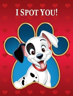 Share the love with these dog-gone cute valentines from One Hundred and One Dalmatians, available today on Blu-ray, Digital HD and Disney Movies Anywhere: http://www.disneymovierewards.go.com/rewards/dalmatian-valentines?cmp=DMR|PIN|Reward|101Valentines
