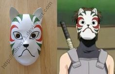 Yamato Anbu Mask (Naruto Shippuden) Made for cosplay purposes. Painting numerous coats of paint on this was time consuming. Anbu Mask, Masks Art, Original Image, Otaku, Naruto, Anime, Cosplay, Deviantart, Crafts