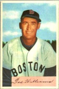Ted Williams 1954 Bowman http://www.baseballcardinvestment.com/ultra-high-grade-baseball-cards-of-the-1940s-and-1950s/