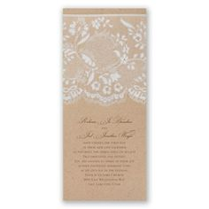 invitations with lace and floral look. vintage wedding invitation I naturally romantic