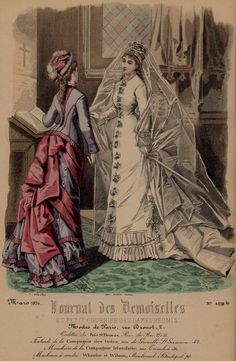 This is one of the fashion plates that Berthe and her sister Edma would have pored over, prior to getting their gowns fitted for the new season. (1876)