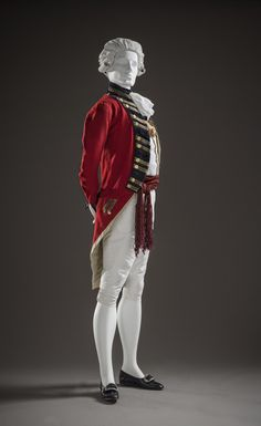 Vest | LACMA Collections 18th Century Clothing, 18th Century Fashion, Army Uniform, Military Uniforms, Military Fashion, Mens Fashion, Morning Suits, 1800s Fashion, American Revolutionary War