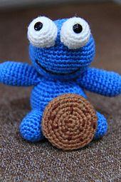 Ravelry: Crocheted Cookie Monster Lookalike Amigurumi pattern by Armina Parnagian