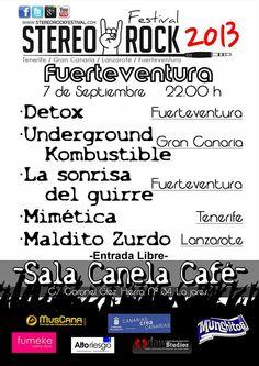 Concierto Stereo Rock 2013 en Fuerteventura, entrada #gratis