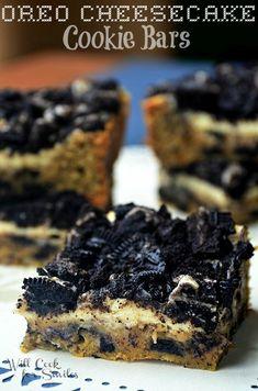 Oreo Cheesecake Cookie Bars