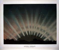Aurora borealis, Etienne Leopold Trouvelot, (1827-1895)