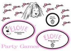 Eloise at the Plaza Games - Set of 3, Put the Bow on Eloise...