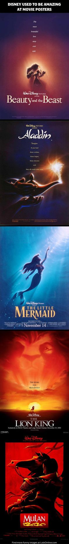Disney used to be amazing at movie posters...