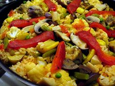 vegetable paella, recipe adapted from José Andrés MADE IN SPAIN cookbook