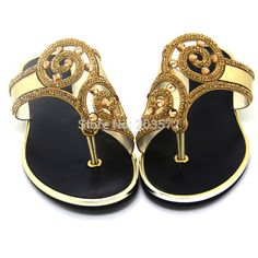 Pakistan Brand Flip Flops 2015 Rhinestone Women Flat Sandal Gold And Silver Woman Summer Slippers Ladies Flip Flop Sandals Shoes