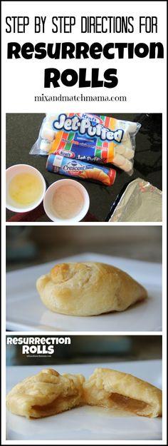 Resurrection Rolls for Easter Easter Snacks, Easter Treats, Easter Recipes, Holiday Recipes, Egg Recipes, Kid Snacks, Holiday Crafts, Healthy Recipes, Cookies