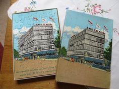 Jaren 50 Puzzel van Leefsma in Rotterdam, een wonindtextielgroothandel waar mijn vader zaken meedeed.