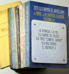TOTS ELS BARRIS DE BARCELONA. I - VII + Índex de noms (8 volums - obra completa) - Edicions 62 1976 - Llibres del Mirall