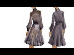 Fashion Illustration Tutorial: Sheer Fabrics - YouTube