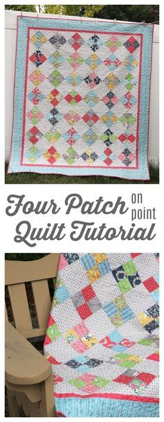 Fast Four-Patch Quilt Tutorial from Amy Smart.