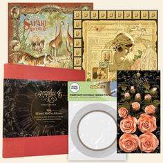 8x8 DCE Black Friday Bundle Pink Rose Bouquet, Safari Adventure, Graphic 45, Black Friday, Mixed Media, Bloom, Paper, Flowers, Red