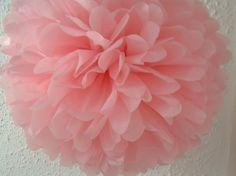 Items similar to 10 Tissue Paper Pom Poms : wedding decor - room decor - hanging decor - children's room - baptism - party decor - pick your colors on Etsy