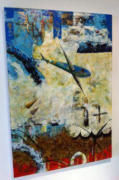 Título: Plan V Formato: 130 x 90 cm. Técnica: Óleo y acrílico sobre lienzo. Año: 2013