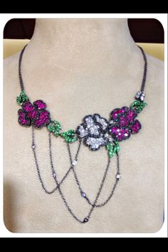 Finest and High Quality Gold Diamond Ruby Sapphire necklace