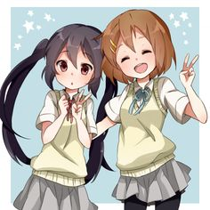 Azusa and Yui K-on!