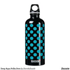 Deep Aqua Polka Dots Water Bottle This design is available on many products! Click the link and hit the 'Available On' tab near the product description to see them all! Thanks for looking!  @zazzle #art #design #polka #dots #water #bottle #drink #sport #athletic #color #circles #shop #gift #buy #sale #men #women #kids #black #white #red #yellow #blue #orange #green #purple #pink #aqua #fun #sweet #cool #awesome
