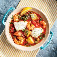 Mediterranean Fish Stew - Instant Pot Recipes - Atıştırmalıklar - Las recetas más prácticas y fáciles Fish Recipes, Seafood Recipes, Cooking Recipes, Healthy Recipes, Cooking Pasta, Seafood Dishes, Healthy Dinners, Healthy Cooking, Cooking Time