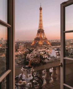 """The Tour Eiffel is genuinely a symbol of Paris. It is the most recognizable function of the city and, in truth, the world. Found in the arrondissement, the Eiffel Tower was a marvel of """"modern-day"""" engineering. Photo Wall Collage, Picture Wall, Window View, Travel Aesthetic, Aesthetic Beauty, Paris Travel, Travel Europe, Travel Destinations, Globe Travel"""