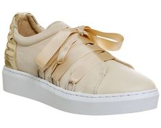 official photos 58515 6bab8 Womens Oki Kutsu Natural Leather Lace Up Trainers UK Size 7Ex Display   eBay