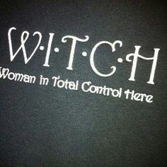 witch humor.
