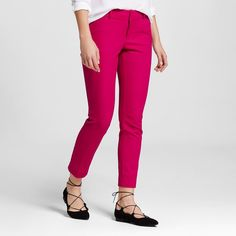 Women's Modern Ankle Pant Pink 16 - Merona